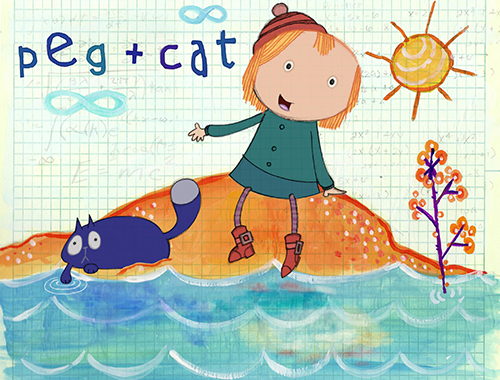 Peg and Cat Illustration